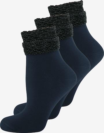 ELBEO Damensocken ' 3-Pack Glamour Dream ' in Blau