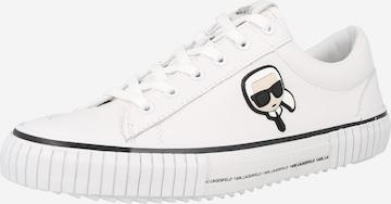 Karl Lagerfeld Nízke tenisky 'KAMPUS' - biela