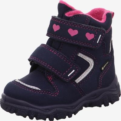 SUPERFIT Škornji za v sneg | nočno modra / golobje modra / roza barva, Prikaz izdelka