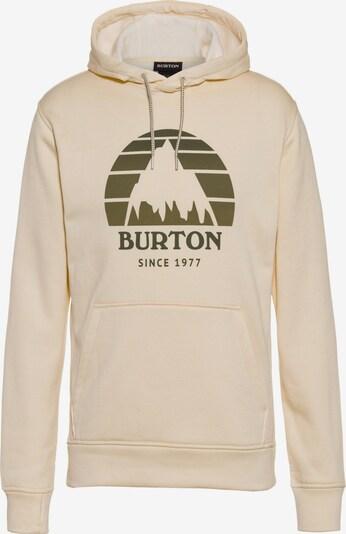 BURTON Sweatshirt in beige / oliv, Produktansicht