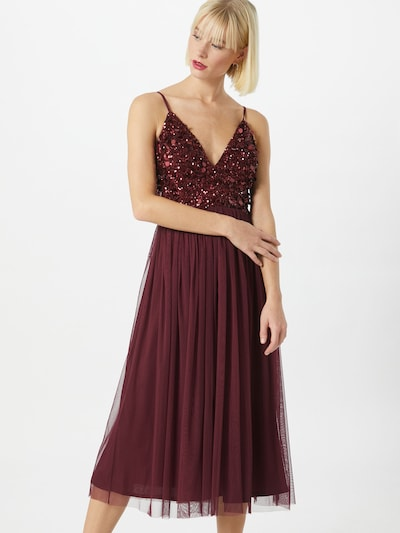 LACE & BEADS Kleid 'Azalia' in burgunder, Modelansicht