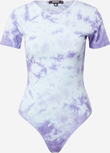Missguided Shirtbody in hellblau / lila, Produktansicht