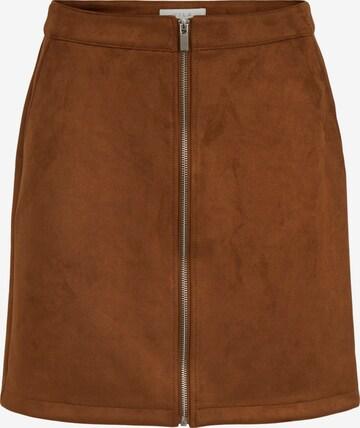 VILA Skirt 'Faddy' in Brown