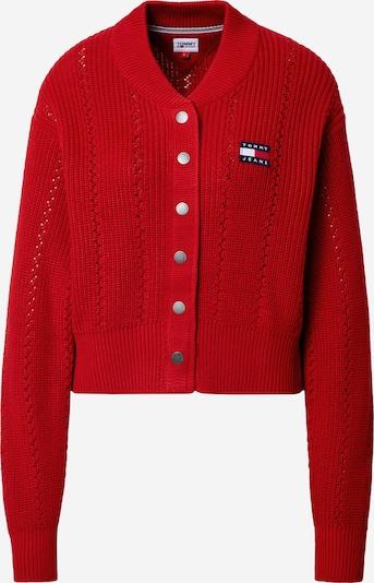 Geacă tricotată Tommy Jeans pe roșu sânge, Vizualizare produs