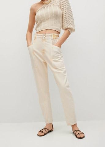 MANGO Jeans 'Angela' in Geel