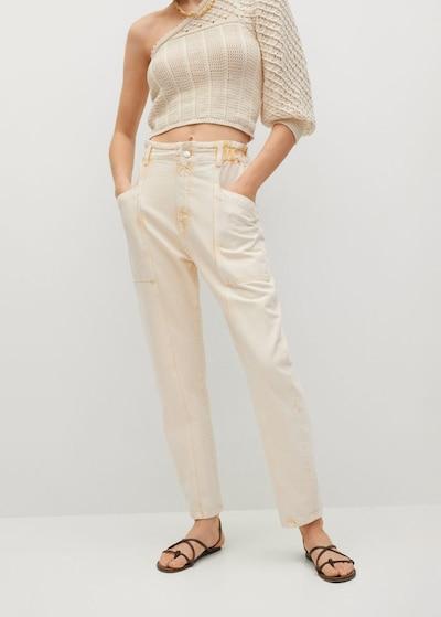 MANGO Jeans 'Angela' in Pastel yellow, View model