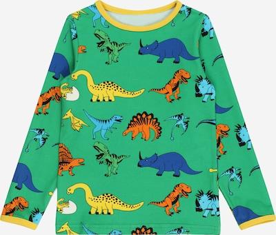 Småfolk Shirt 'Dino' in dunkelblau / gelb / apfel / orange / schwarz: Frontalansicht