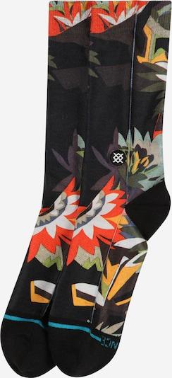 Stance Chaussettes de sport 'MARA' en vert / baie / rouge feu / noir / blanc, Vue avec produit