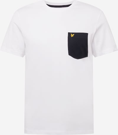 Lyle & Scott T-Shirt in gelb / schwarz / weiß, Produktansicht