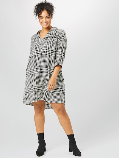 Zizzi Tunika in schwarz / weiß, Modelansicht