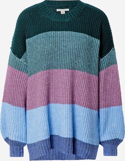 American Eagle Pullover i overstørrelse i lyseblå / mørkeblå / grøn / gran / mørk pink, Produktvisning
