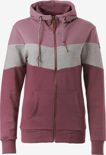 Lakeville Mountain Sweatjacke 'Myla' in rosegold / grau / rosé, Produktansicht