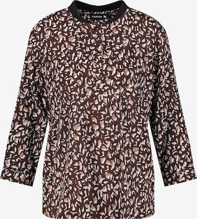 TAIFUN Bluse in braun / weiß, Produktansicht