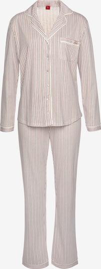 s.Oliver Pajama in Dark green / Pink / Burgundy / White, Item view