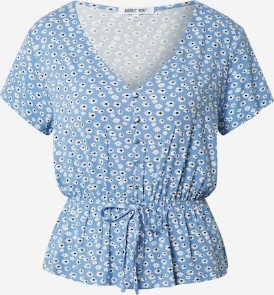 ABOUT YOU Bluse 'Melika' i lyseblå / sort / hvid, Produktvisning