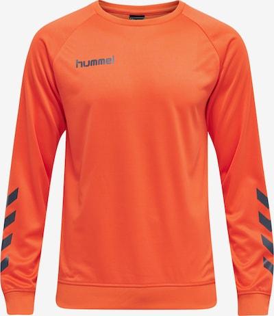 Hummel Sportsweatshirt in anthrazit / orange, Produktansicht