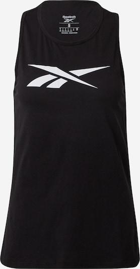 REEBOK Top deportivo en negro / blanco, Vista del producto