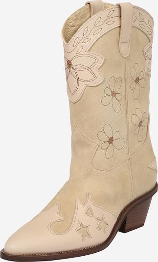 Cizme de cowboy 'Holly' Fabienne Chapot pe bej / maro, Vizualizare produs