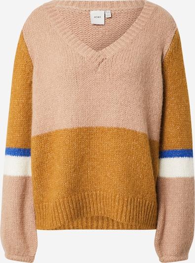 ICHI Sweater 'Ihmarita' in Blue / Cognac / Light brown / White, Item view