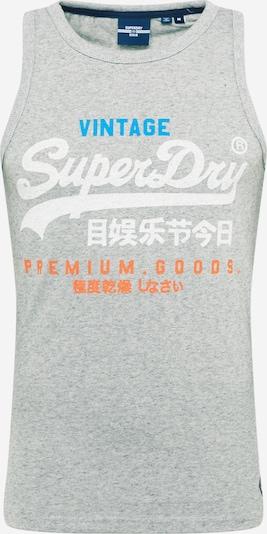 Superdry Tričko - nebesky modrá / sivá melírovaná / tmavooranžová / biela, Produkt
