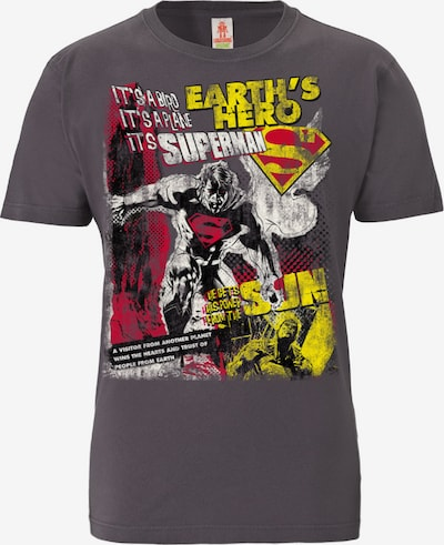 LOGOSHIRT T-Shirt 'Superman' in dunkellila, Produktansicht