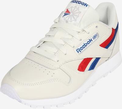 Reebok Classic Låg sneaker 'CL LTHR' i kräm / blå / röd, Produktvy