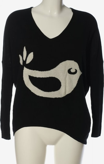 gwynedds V-Ausschnitt-Pullover in S in schwarz / wollweiß, Produktansicht