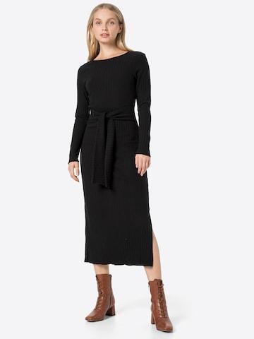 ABOUT YOU Pletené šaty 'Victoria' - Čierna
