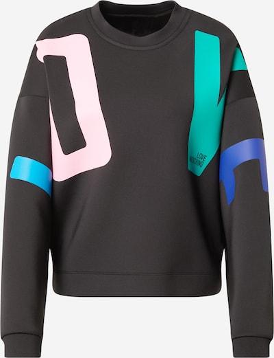 Love Moschino Sweatshirt in blau / grün / rosa / schwarz, Produktansicht