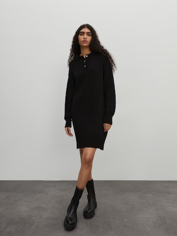 Rochie tricotat 'Larina' de la EDITED pe negru