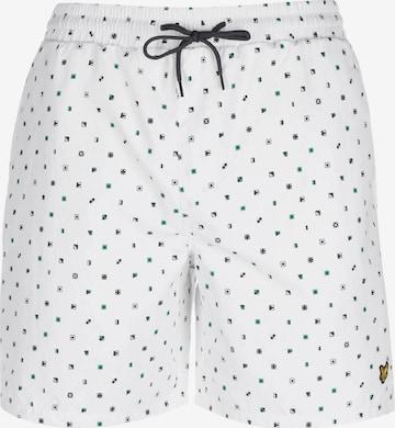 Shorts de bain 'Flag Print' Lyle & Scott en blanc