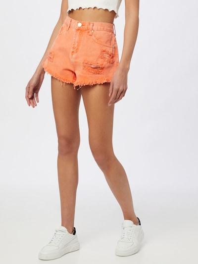 GLAMOROUS Jeans in de kleur Sinaasappel, Modelweergave