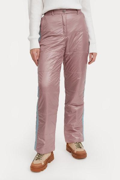 Finn Flare Thermohose in grau / pink, Modelansicht