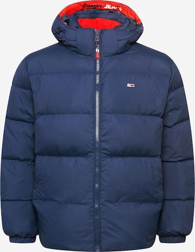 Geacă de iarnă Tommy Jeans pe bleumarin / roși aprins / alb, Vizualizare produs