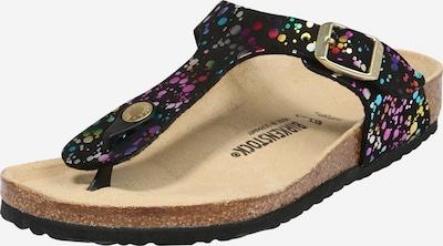 BIRKENSTOCK Sandalias 'Gizeh' en mezcla de colores / negro, Vista del producto