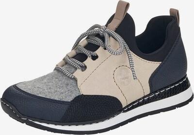 RIEKER Platform trainers in Beige / Dark blue / Light grey / Black, Item view