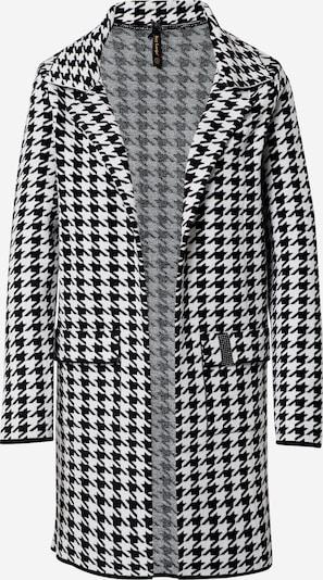 Key Largo Gebreide mantel 'VERENA' in de kleur Zwart / Wit, Productweergave