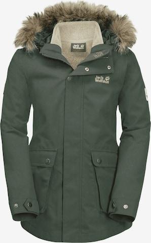 JACK WOLFSKIN Athletic Jacket 'ELK' in Green