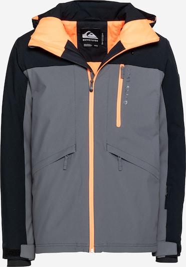 QUIKSILVER Outdoorová bunda 'DAWSON' - tmavě šedá / oranžová / černá, Produkt