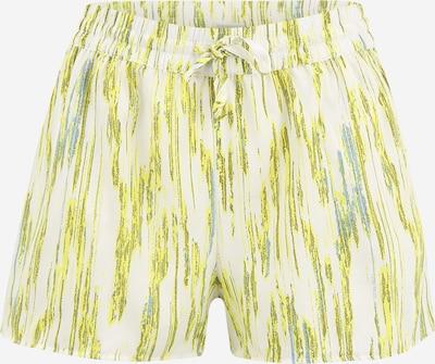 Noisy May Petite Pantalon 'RITA' en bleu fumé / citron vert / olive / blanc, Vue avec produit