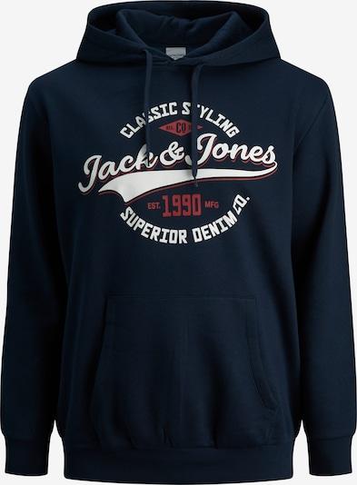 Jack & Jones Plus Sweatshirt in navy / bordeaux / weiß, Produktansicht