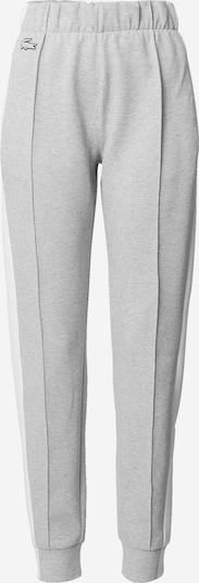 LACOSTE Trousers in grey / white, Item view