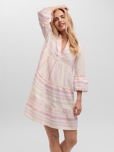 VERO MODA Kleid 'VMDICTHE' in creme / lila, Modelansicht