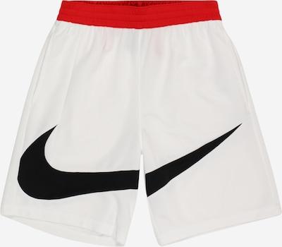 NIKE Sportshorts in rot / schwarz / naturweiß, Produktansicht
