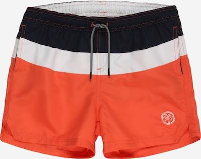 Jack & Jones Junior Badeshorts 'Bali' in orange / schwarz / weiß, Produktansicht