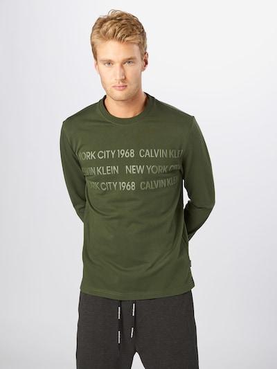 Calvin Klein Sweater majica u maslinasta: Prednji pogled