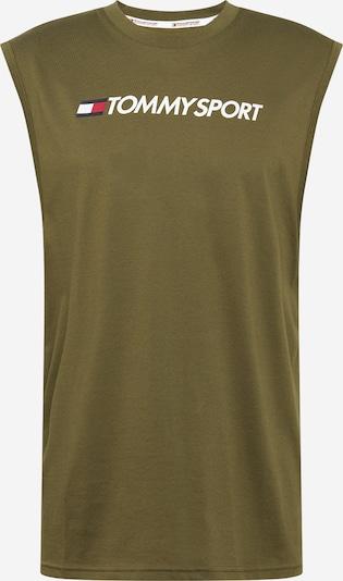 Tommy Sport Funkcionalna majica 'TANK TOP HBR LOGO' | kaki barva, Prikaz izdelka