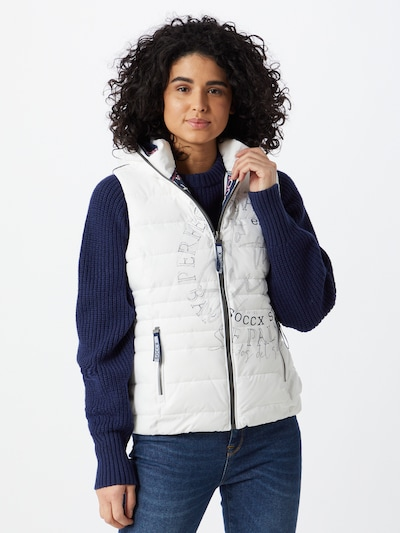 Soccx Vest in Grey / White, View model