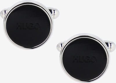 HUGO Manchetknopen in de kleur Zwart / Zilver, Productweergave