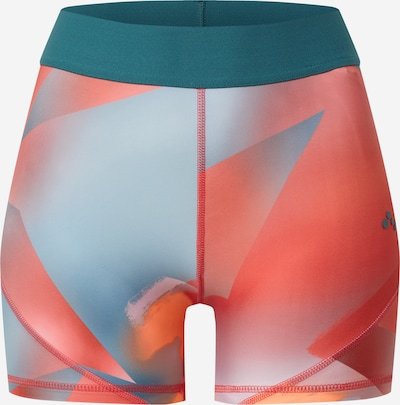 ONLY PLAY Sportshorts 'KNOX' in petrol / orange / orangerot, Produktansicht
